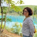美瑛でのワーケーションの醍醐味、サクッと青い池を見てきた