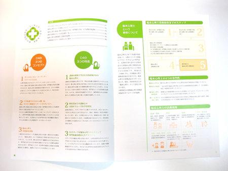 学校案内パンフレットの中ページ1