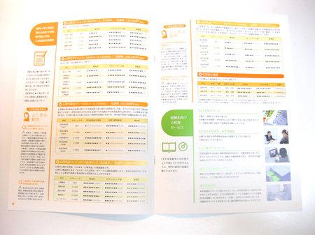 学校案内パンフレットの中ページ2