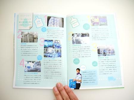 パンフレット制作 作業工程のページのデザイン