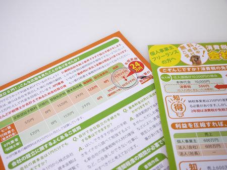 埼玉県の行政書士のチラシ作成裏面のタイトルデザイン