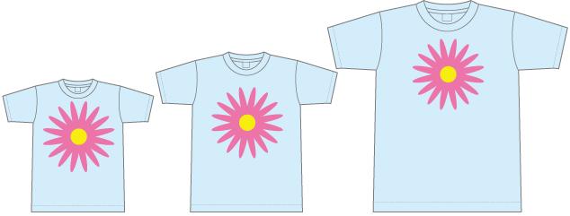 Tシャツのプリント位置とサイズ